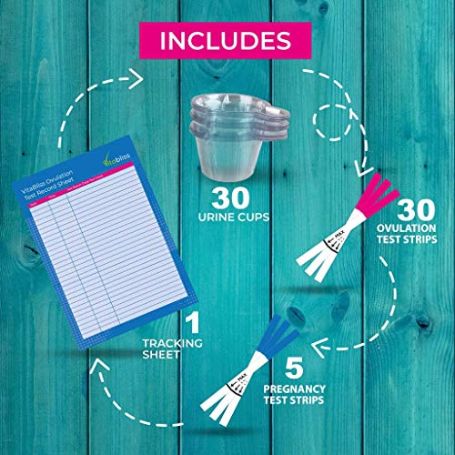 30-Pack-Ovulation-Test-Kit-Highly-Sensitive-Ovulation-Fertility-Test-Strips-5-FREE-Pregnancy-Tests-with-Urine-Cups-All-in-One-Fertility-Ovulation-predictor