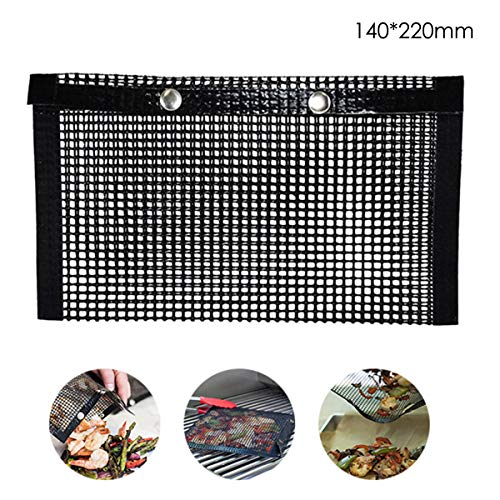 Jinxuny BBQ Grilling Mesh Bag Niet Stick Herbruikbare Bakplaat Mat Pad Hoge Temperatuur Weerstand Picknick Oven Barbecue Zakken of Outdoor Grill Picknick Koken BBQ