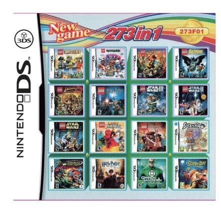 DS Game Super All in 1 Collection Video Game Compilation Cartucho tarjeta de consola funcionará en DS DSI 2DS 3DS DSIXL 2DSXL 3DSXL (273 en 1)
