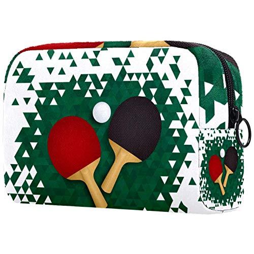 Kit de Maquillaje Neceser Bate de Ping-Pong Make Up Bolso de Cosméticos Portable Organizador Maletín para Maquillaje Maleta de Makeup Profesional 18.5x7.5x13cm