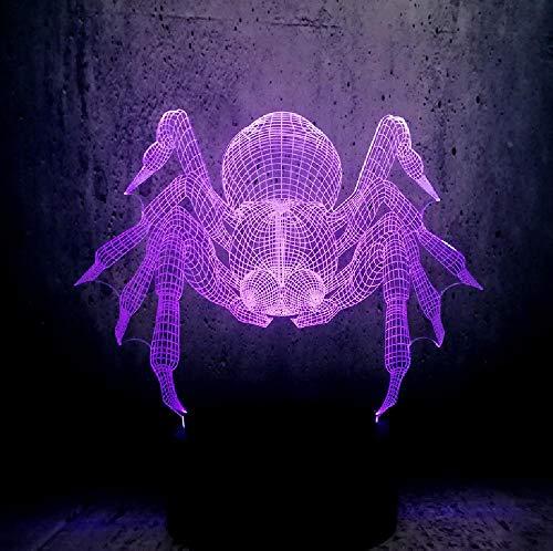 Tiertopf-Aufgeblähte Spinne 3D Führte Usb-Lampe Halloween-Trick-Spukhaus-Dekoration 7 Farben-Birnen-Tabellen-Schreibtisch-Nachtlicht Geführte Lampen