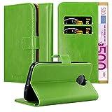 Cadorabo Hülle für Motorola Moto G5S Plus in Gras GRÜN – Handyhülle mit Magnetverschluss, Standfunktion & Kartenfach – Hülle Cover Schutzhülle Etui Tasche Book Klapp Style