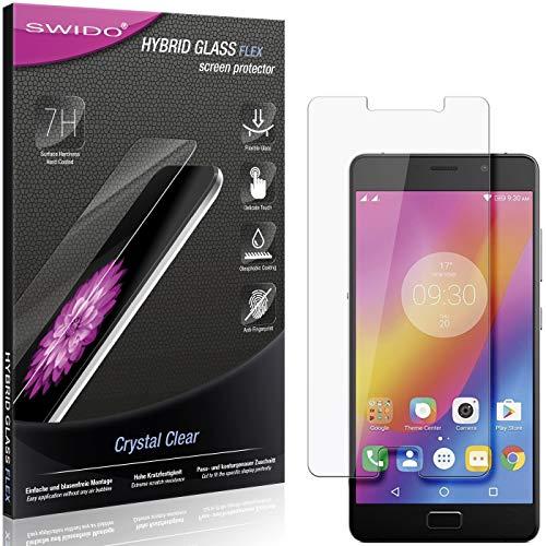 SWIDO Panzerglas Schutzfolie kompatibel mit Lenovo P2 Bildschirmschutz-Folie & Glas = biegsames HYBRIDGLAS, splitterfrei, Anti-Fingerprint KLAR - HD-Clear