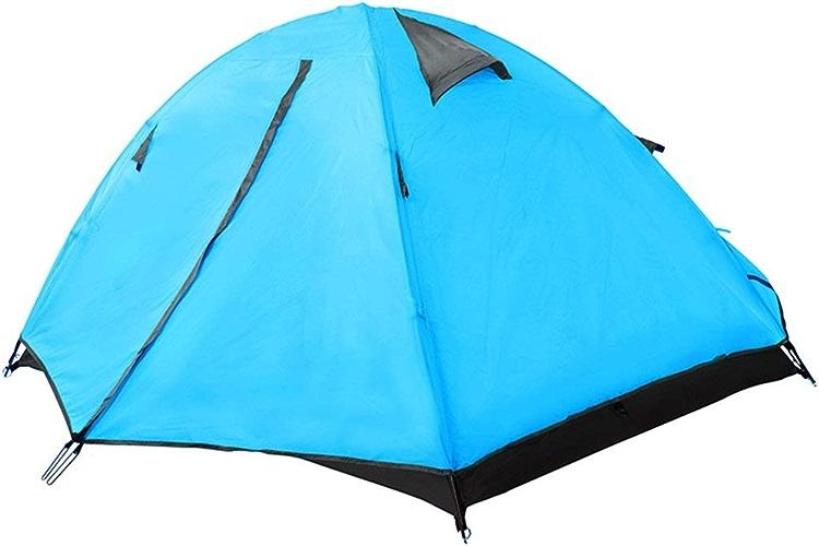 JFFFFWI Tente extérieure en Aluminium de Tente Anti-UV imperméable à la Pluie de Double Tente extérieure de Tente de Polonais