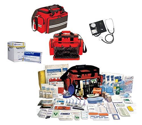 Kit de premiers secours canadien pour premiers secours - Kit complet comprenant : accouchement d'urgence, membres cassés et brûlures graves - Comprend 15 coussinets stériles 5 x 9