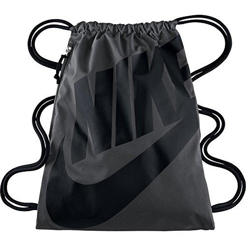 Nike Unisex-Erwachsene NK Heritage GMSK Turnbeutel, Grau (Grau/Schwarz)