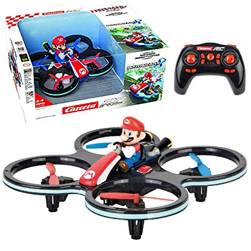 Carrera- RC 2,4GHz Mini Mario Helicóptero, Multicolor (370503024)