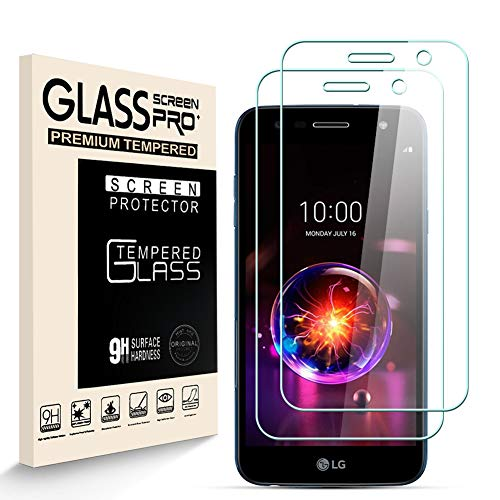 HJX Panzerglas Schutzfolie für LG X Power 3, 9H-Festigkeit Tempered Glass, Anti-Kratzer, Blasenfrei, Anti-Fingerabdruck Bildschirmschutzfolie für LG X Power 3 [2 Stück]