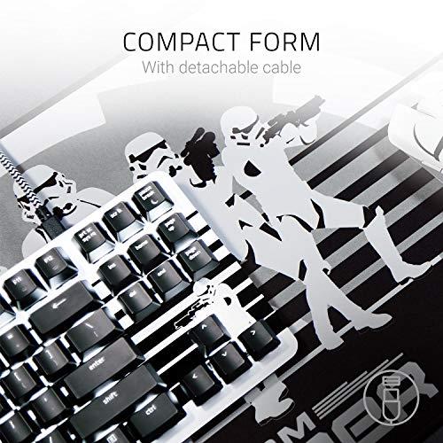 Razer BlackWidow Lite Stormtrooper Edition (Orange Switch) - Kompakte Gaming Tastatur mit mechanischen Schaltern (Taktil & leise, Unterlegscheiben) QWERTY | US-Layout, Schwarz