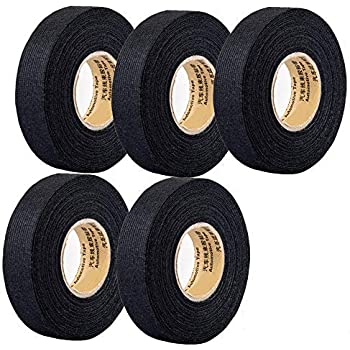 Amazon.com: 5 Rolls Wire Loom Harness Tape, Wiring Harness Cloth Tape, Wiring  Loom Harness Adhesive Cloth Fabric Tap, Adhesive Fabric Tape for Automobile  ,Wire harnessing Noise Damping Heat Proof(15 mm x 15Amazon.com