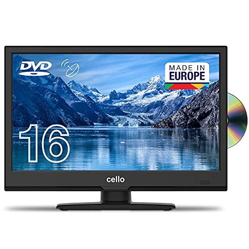 Cello C1620FS 16'(40 cm Diagonale) Full HD LED TV mit eingebautem DVD Player und DVBT2 S2 Triple Tuner