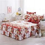 Due Strati Bed Gonna Chiffon Elegante copriletto di Cotone...