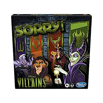Hasbro Gaming Sorry! Board Game  Disney Villains Edition Kids Game Family Games for Ages 6 and Up  Amazon Exclusive