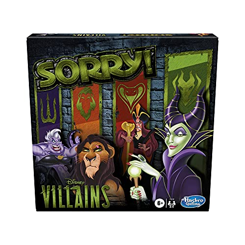 Hasbro Gaming Sorry! Board Game: Disney Villains Edition Kids Game, Family Games for Ages 6 and Up...