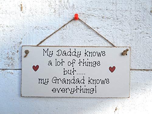DKISEE Mijn papa weet veel. Opknoping Plaque/Teken Boerderij Muurdecoratie, Plaque Teken voor Wanddecoratie
