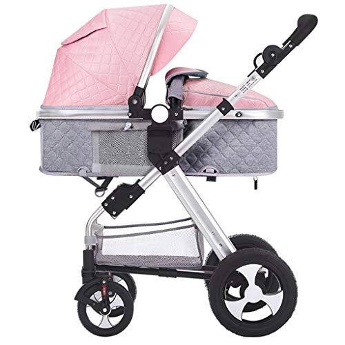 New DZFZ Baby Stroller Can Sit Reclining Foldable Newborn Shock Baby Stroller High Landscape Two-Way...