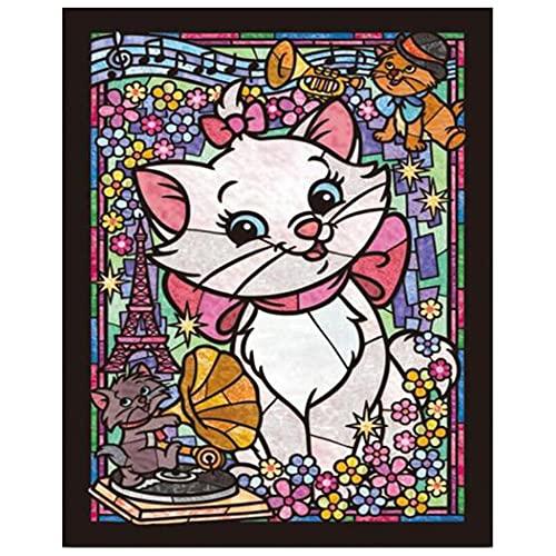 Redondo 5D DIY diamante pintura conjunto personaje de dibujos animados bordado de diamantes punto de cruz mosaico venta decoración del hogar regalo A1 40x50cm