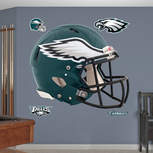 FATHEAD NFL Philadelphia Eagles - Helmet Teammate- Officially Licensed Removable Wall Decal, Multicolor, Big