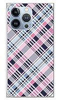 スマホケース カバー チェック ピンク 青 ソフトケース [対応機種:iPhone13 iPhone13 Pro ]