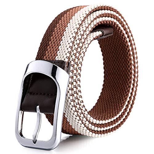Fascigirl Cinturón De Cintura Cómodo Bicolor Tejido Elástico Simple Estiramiento Trenzado Ancho Moda Versátil Cinturón De Vestir Cinturón Trenzado Para Damas