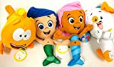 Bubble Guppies Gil, Molly, and Bubble Puppy and Mr Grouper Medium 4 Plush Doll Set 10'