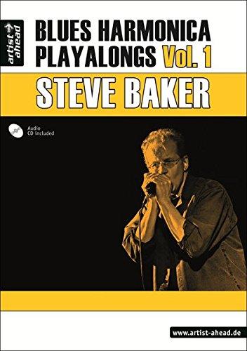 Blues Harmonica Playalongs Vol.1 (inkl. Audio-CD). Spielbuch für Blues Harp. Lehrbuch. Musiknoten.