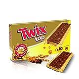 TWIX TOP - Biscuits au Chocolat au Lait et aux éclats de Caramel Boîte de 10