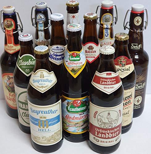 Bier Box Bierprobe Franken12 x 0,5l I 12 verschiedene Bier Sorten I Geschenk I Bier aus Franken I Biertasting I Biervielfalt