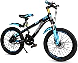 Fahrräder for Kinder im Freien Fahrrad-Fahrpedal Fahrrad Schüler Weg von Schule Fahrrad Männlich Mädchen 7-10-15 Jahre alt Mountain Bike 18/20 Inch-Pedal-Fahrrad (Farbe: Blau, Größe: 18 Zoll) lalay