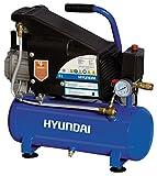 Hyundai 65602 750W Corriente alterna compresor de aire - compresores de aire (2850 RPM, 8 bar, Negro, Azul, Aluminio, hierro fundido, 750 W, Corriente alterna)