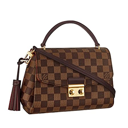 Fashion Shopping Louis Vuitton Damier Ebene Canvas Croisette Hand Carry Shoulder Handbag Article:N53000