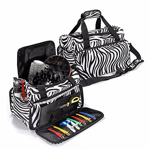 LuckyFine multifuncional kit portátil zebra bolsa de viaje herramientas profesionales del pelo del salón de pelo