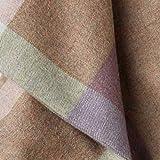 Lorenzo Cana Luxus Alpakadecke aus 100prozent Alpaka - Wolle vom Baby - Alpaka flauschig weich Decke Wohndecke Sofadecke Tagesdecke Kuscheldecke Karodecke Hellbraun 96076