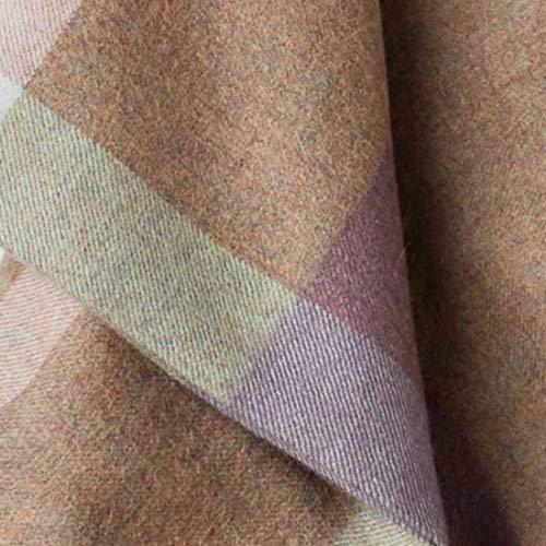 Lorenzo Cana Alpakadecke aus 100% Alpaka - Wolle vom Baby - Alpaka flauschig weich Decke Wohndecke Sofadecke Tagesdecke Kuscheldecke Karodecke Hellbraun