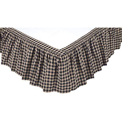 Americana Classic Country Bedding - Bingham Star Black Bed Skirt, King