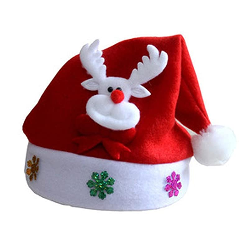 郵便政策うがい薬OVERMALクリスマスWapitiレッド帽子Cozyソフト暖かいChildreサンタHeadgear