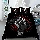 Gamepad - Juego de ropa de cama PS5, muy suave y cómodo, 1 funda nórdica + 2 fundas de almohada (PS52, 200 x 200 cm + 50 x 75 cm x 2)