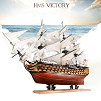 【】 英国海軍 ヴィクトリー 船 帆船 ボート ヨット 木製 模型 木製パズル モデルキット 組み立て式