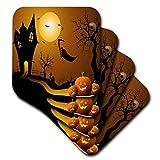 3dRose CST 152289_ 3Halloween House mit Kürbisse, Skulls, und Fledermäuse und der Sensenmann...