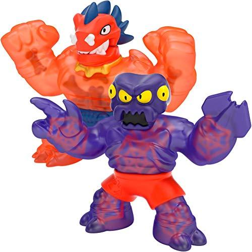 Heroes of Goo Jit Zu Dino Power Versus Pack - 2 Action Figures - Volcanic Rumble - Blazagon Vs Redback