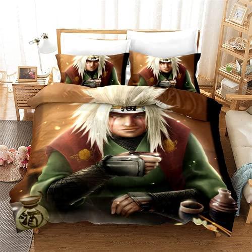 Aatensou Naruto Bettwäsche Anime 3D Cartoon Druck Bettbezug mit Kissenbezug 100{0df9afc0a6cf41fdbfdd3ff7f8751cb8cfa5f32fe7ae28819e27cefae3e1c1d2} Mikrofaser bettwäsche Set,135x215cm