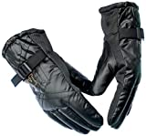 Alexvyan Anti Slip Snow Proof Soft and Warm Winter Gloves for Riding/Bike (Black, Regular)