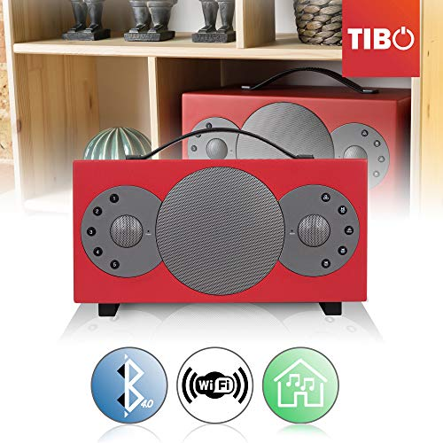 'Tibo Sphere 2Altavoz portátil Bluetooth/WiFi para iOS/Android Rojo