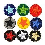 Bügelflicken 9 mini Flicken Stern Aufbügler ø 3,5cm bunte Sterne Hosenflicken patches zum aufbügeln