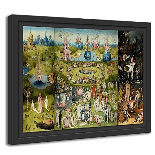 Printed Paintings Cassetta Americana (80x60cm): Hieronymus Bosch - Il Giardino delle Dolci (1490/