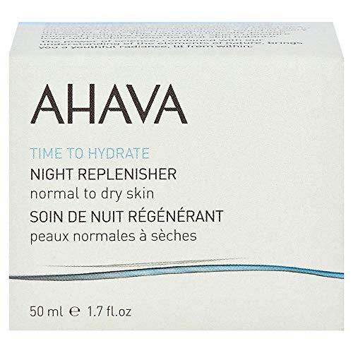 AHAVA NIGHT REPLENISHER NORMAL TO DRY SKIN EVENING MOISTURIZER FACE CREAM 50ML