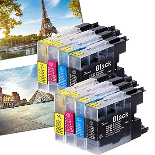 Karl Aiken - Cartuchos de tinta compatibles con impresoras Brother LC1240 LC1220 LC400 LC75 LC73 LC71 LC40 LC12 para impresoras Brother LC1100BK LC980BK para LC980BK y LC980BK