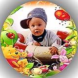 20 cm Fondant Tortenaufleger Tortenbild Geburtstag Winnie Pooh mit Wunschfoto T54