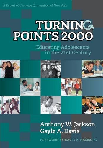 Turning Points 2000 Educating Adolescents In The 21st Century