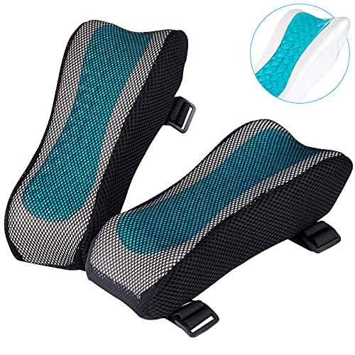 BEAUTRIP Ergonomic Armrest Pads- Office Chair Arm Rest Cover Pillow - Elbow Support Cushion for Computer, Gaming and Desk Chairs (Set of 2)